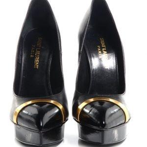SAINT LAURENT Classic 105 Paris Cap toe black pump